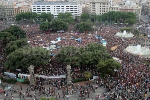 Χιλιάδες Αγανακτισμένοι Ισπανοί στο κέντρο της Μαδρίτης