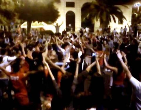 «Μεθυσμένη πόλη» τα Χανιά για τον Ολυμπιακό (βίντεο)