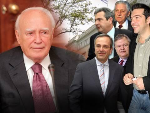 Η συνάντηση Παπούλια – πολιτικών αρχηγών