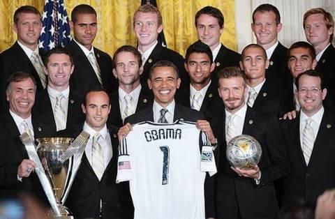 Όταν ο Ομπάμα συνάντησε τον Μπέκαμ (φωτο)
