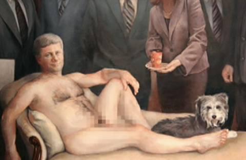 Γυμνός σε πίνακα ζωγραφικής ο Καναδός πρωθυπουργός!
