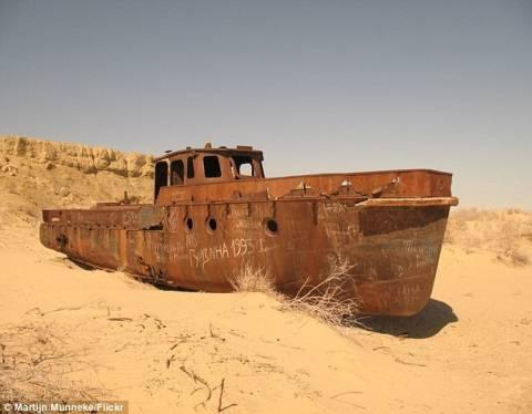 Καράβια βγήκαν στην στεριά (φωτο)