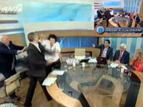 Βίντεο: Ο Κασιδιάρης χαστούκισε την Κανέλλη στον αέρα