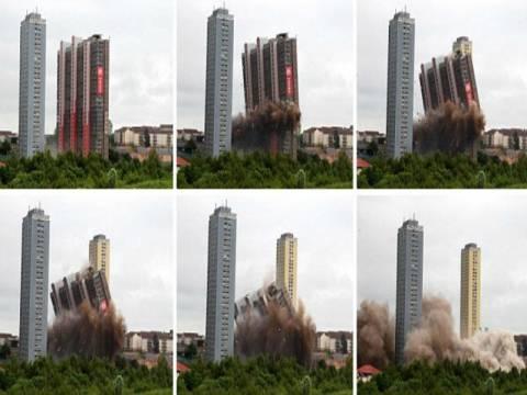 H κατεδάφιση της ψηλότερης πολυκατοικίας της Ευρώπης (vid+pics)