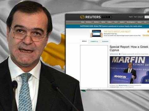 Reuters: Ο Βγενόπουλος βάζει την Κύπρο στην οικονομική κρίση!
