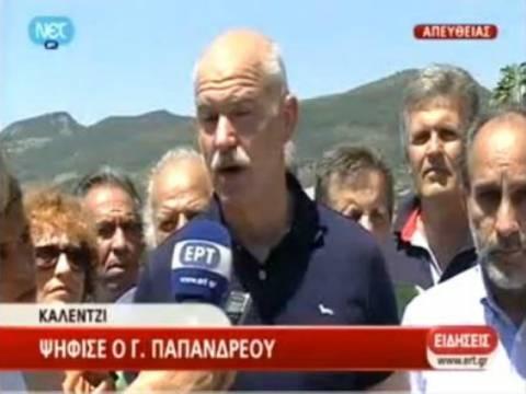 Βουλευτικές εκλογές 2012: Ψήφισε ο Γιώργος Παπανδρεου (vid)