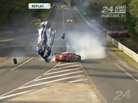 Βίντεο-σοκ: Ατύχημα στους αγώνες στην πίστα του Le Mans