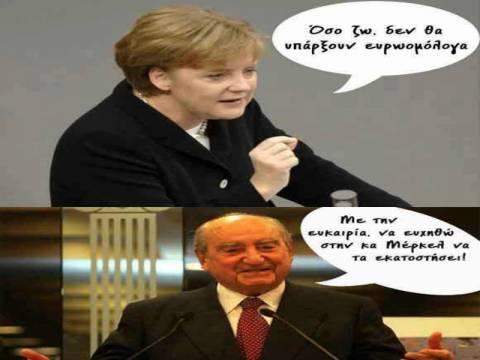 Η ευχή του... Μητσοτάκη στη Μέρκελ για τα ευρωομόλογα! (pic)