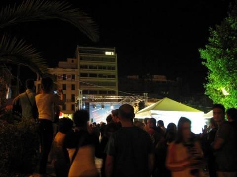 Ποίηση και μουσική στην πλατεία Κλαυθμώνος