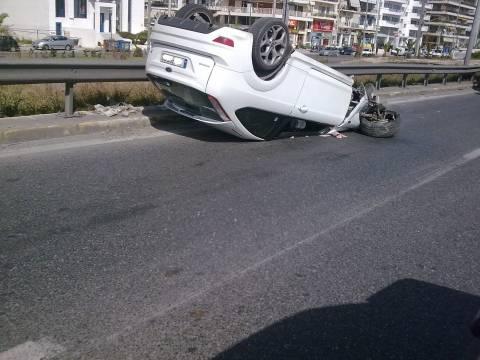 Ατύχημα στην παραλιακή - 2 σοβαρά τραυματίες