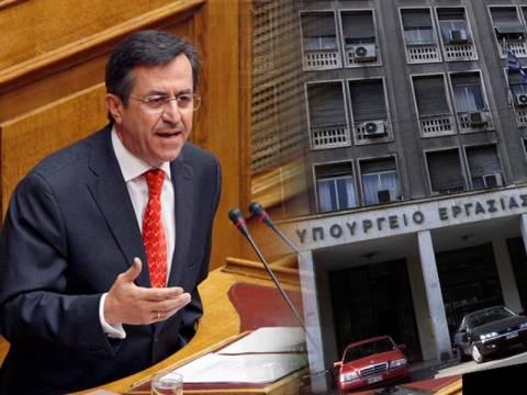 Παραιτήθηκε ο υφυπουργός Εργασίας Νίκος Νικολόπουλος