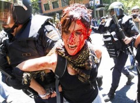 Τραυματισμοί στη Μαδρίτη κατά τη διάρκεια διαδήλωσης
