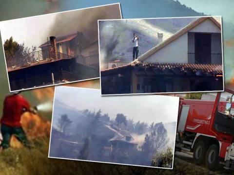 Καίγονται σπίτια στην Κερατέα