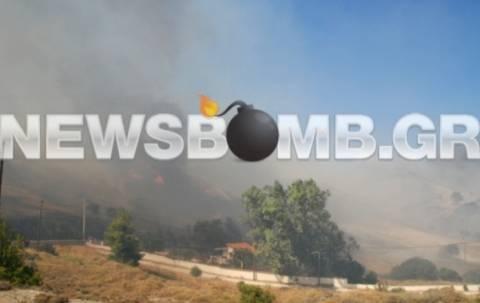 Υπό μερικό έλεγχο η φωτιά στην  Κερατέα – σε ύφεση Αχαΐα και Χανιά