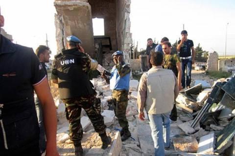 Αναχώρησαν από τη Συρία παρατηρητές του ΟΗΕ