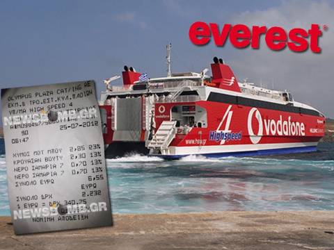 Αποκλειστικό:Κυλικείο σε πλοίο της γραμμής κόβει αποδείξεις σε δραχμές