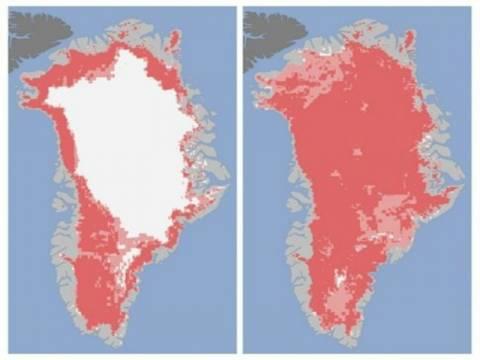 Γροιλανδία: Απώλεια-ρεκόρ στους πάγους ανησυχεί τη NASA