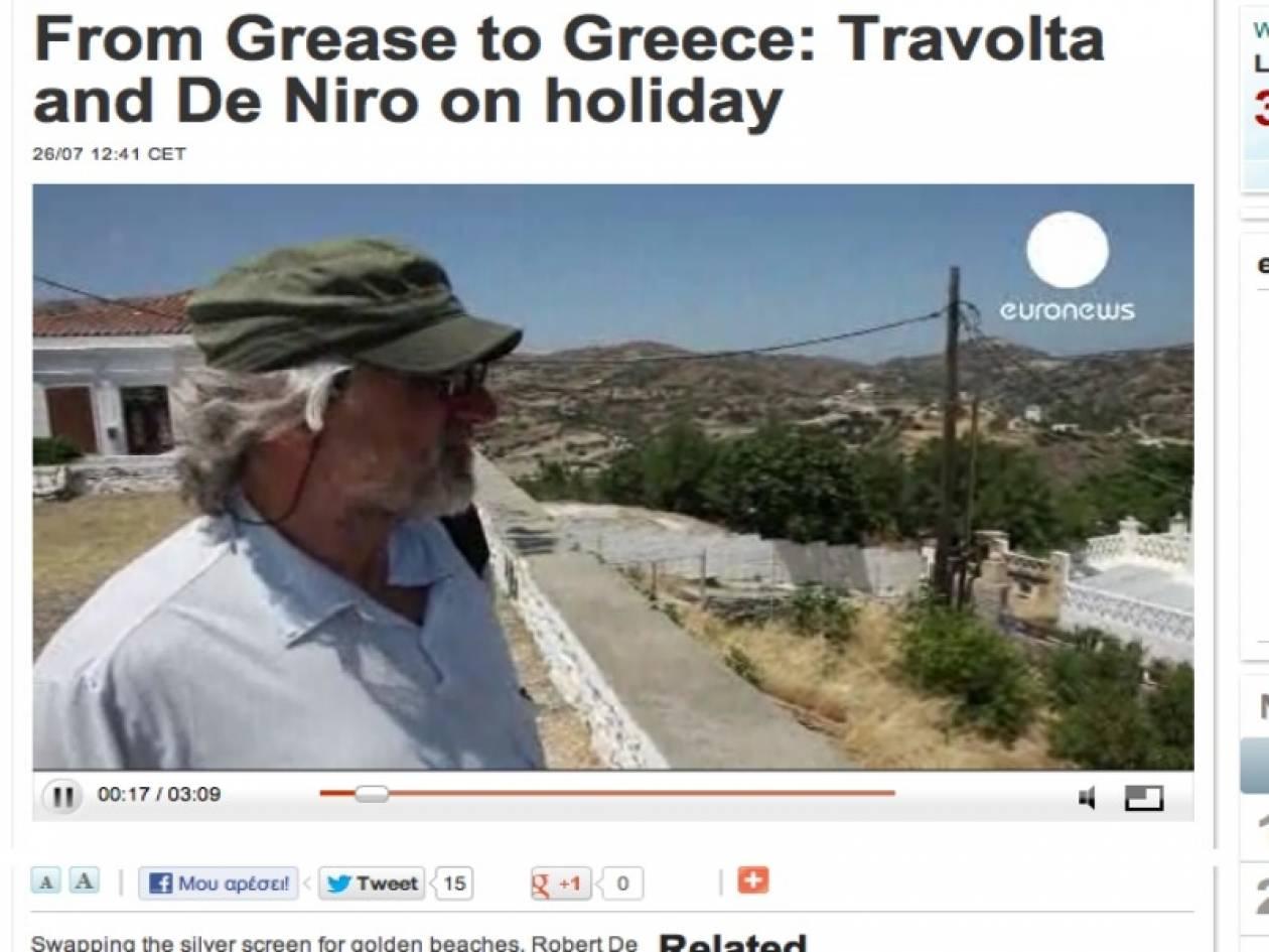 Βίντεο: Τραβόλτα και Ντε Νίρο μιλούν για την Ελλάδα