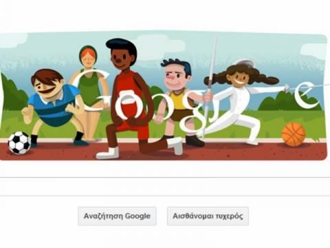 Λονδίνο 2012-Τελετή Έναρξης: Η Google αφιερώνει το logo