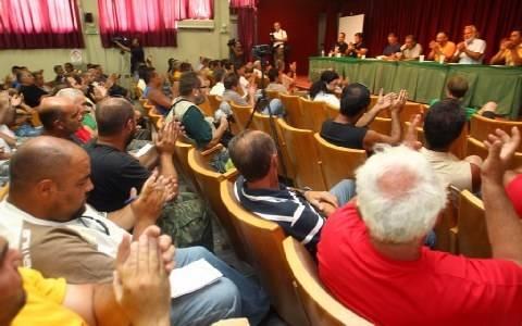 Αναστολή των κινητοποίησεων στη Χαλυβουργία