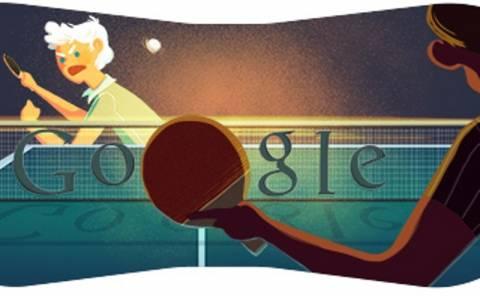Πινγκ – πονγκ στο λογότυπο της Google