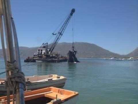Μονεμβασιά: Ανέλκυση ναυαγίου