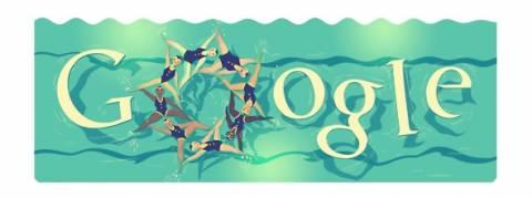 Ολυμπιακοί Αγώνες 2012: Συγχρονισμένη κολύμβηση στο doodle της Google