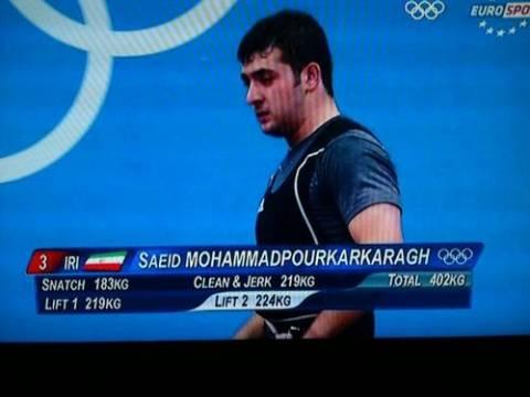 Ο αθλητής που ονομάζεται Saeid Mohammadpourkarkaragh