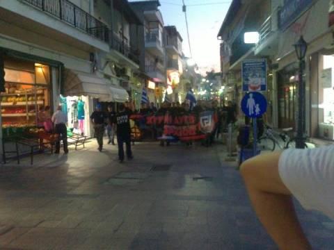 Χρυσή Αυγή: Πορεία μέσα στην πόλη του Διδυμοτείχου