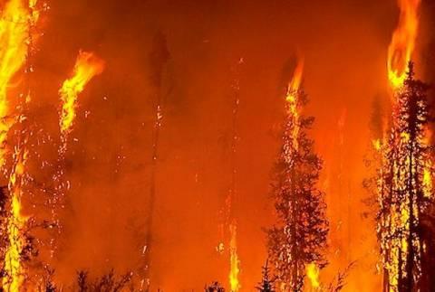 Υπό μερικό έλεγχο οι φωτιές σε Λάρισα και Οινούσσες