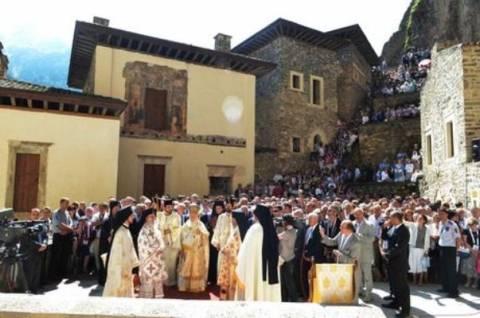 Πανηγυρική λειτουργία στο Μοναστήρι της Παναγιάς Σουμελά στον Πόντο