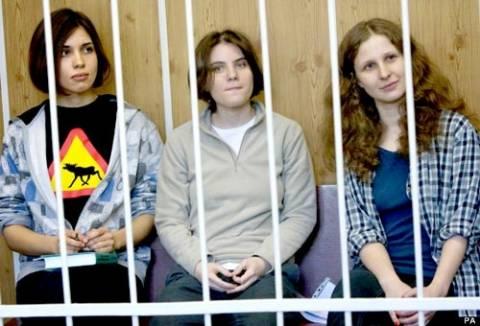 Pussy Riot: Ποινή διετούς φυλάκισης στα μέλη του συγκροτήματος!