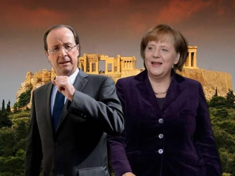 Με φόντο την Ελλάδα η συνάντηση Μέρκελ-Ολάντ