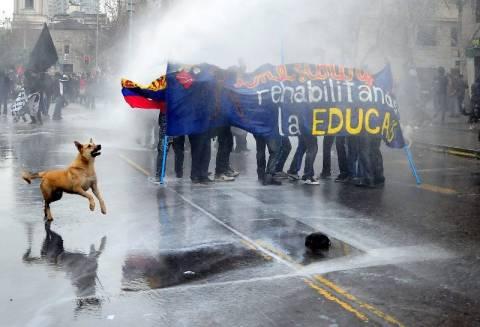 Χιλή: 113 συλλήψεις φοιτητών σε συλλαλητήριο