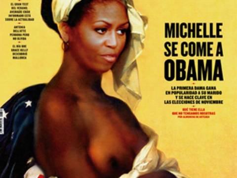 Η Μισέλ Ομπάμα ημίγυμνη και σκλάβα (pics)