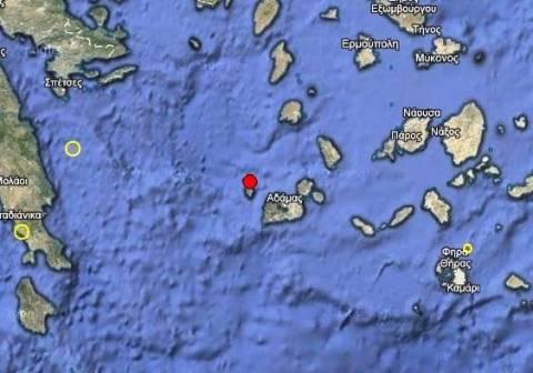 Σεισμός 3,3 Ρίχτερ βόρεια της Μήλου
