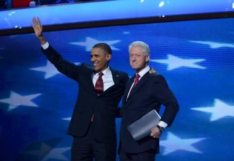 Ο Μπιλ Κλίντον στο πλευρό του Ομπάμα