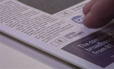 Εκδόθηκε η πρώτη εφημερίδα που... μιλάει