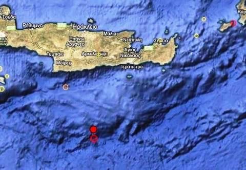 Διπλή σεισμική δόνηση 3,6 Ρίχτερ νότια της Κρήτης