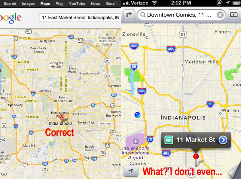 Apple: Με πολλά παράπονα η αναβάθμιση του iOS 6 (pics)