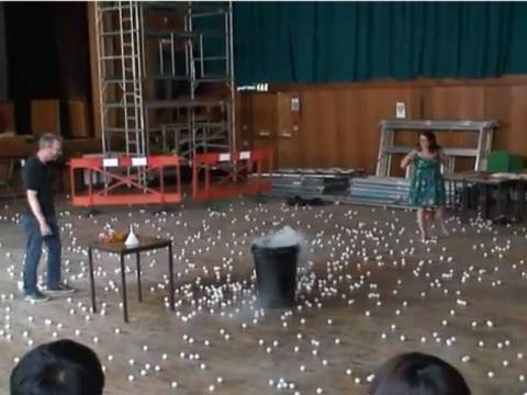 Απίθανο:Η εκρηκτική συνάντηση του υγρού αζώτου με 900 μπαλάκια (vid)