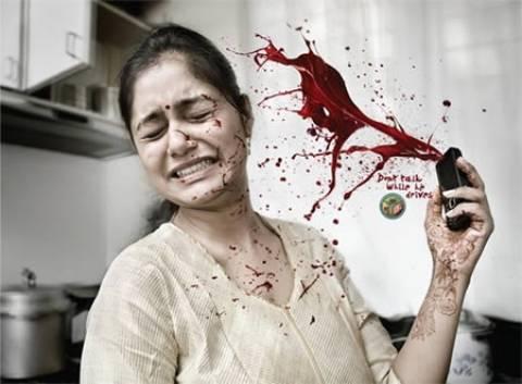 Σοκαριστικές διαφημιστικές αφίσες για ασφαλή οδήγηση (βίντεο)