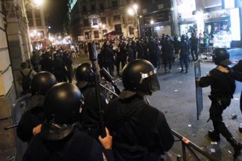 Μαδρίτη: Πλαστικές σφαίρες στους διαδηλωτές από την αστυνομία