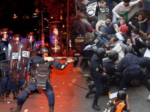 Ισπανία: Άγρια επεισόδια στη Μαδρίτη-Δεκάδες τραυματίες