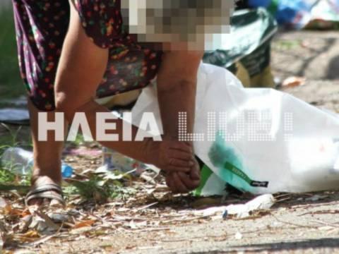 Εικόνες ΣΟΚ στην Ηλεία: Μαζεύουν τα σκόρπια φασόλια από το δρόμο