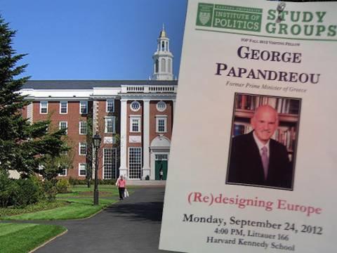 Ο Παπανδρέου κάνει καριέρα στο Χάρβαρντ στις… πλάτες των Ελλήνων!