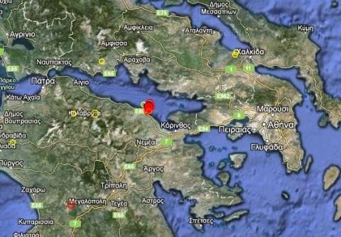 Σεισμός 3,4 Ρίχτερ στον Κορινθιακό Κόλπο