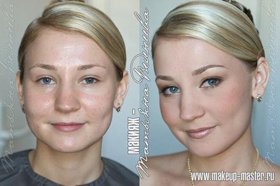 Γυναίκες με και χωρίς μακιγιάζ (pics)