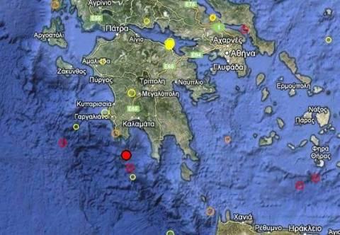 Σεισμός 3,5 Ρίχτερ νότια της Καλαμάτας