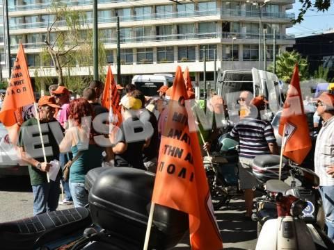 Μηχανοκίνητη πορεία των εργαζομένων της ΠΟΕ –ΟΤΑ (ΦΩΤΟ+ΒΙΝΤΕΟ)